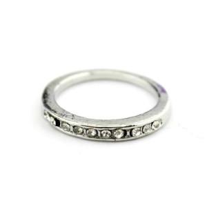 Тонкое Кольцо с кристаллами #1370