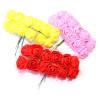 Связка из цветов с сеткой 12шт