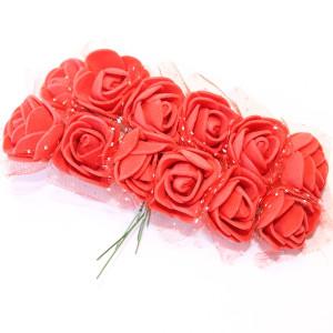Связка из цветов с сеткой 12шт #5496