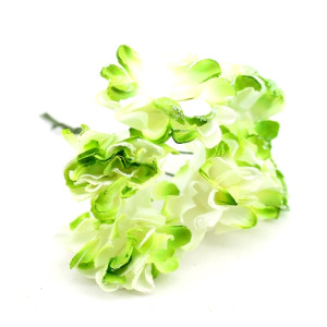 Связка из бумажных цветов 6шт Зеленые #11056