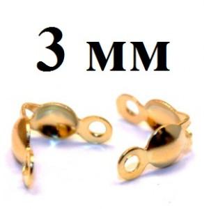Каллоты-зажимы 3х6 мм 1 гр (12 шт) #3824