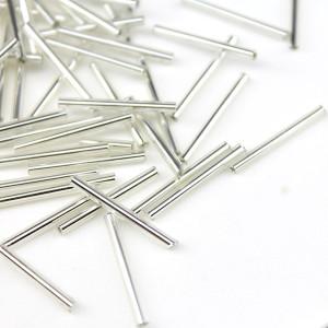 Трубочки 2х18мм серебристые, 1гр (12шт) #2505