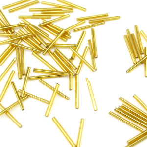 Трубочки 2х18мм золотистые, 1гр (12шт) #2534