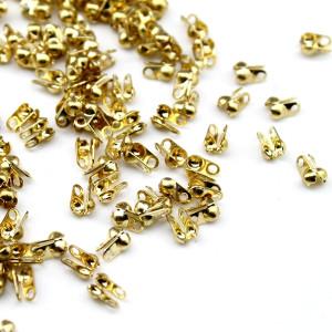 Каллоты-зажимы 3х6 мм 1 гр (12 шт) Золото #6191