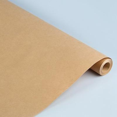 Бумага упаковочная крафт 72см*10м