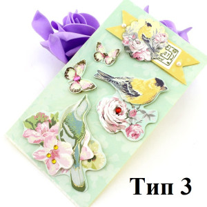 Декоративные 3D наклейки Flowers Тип3 #10384