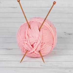 Спицы для вязания, прямые, d = 4 мм, 25 см, 2 шт #10906