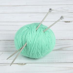 Спицы для вязания, прямые, d = 4 мм, 20 см, 2 шт #11219