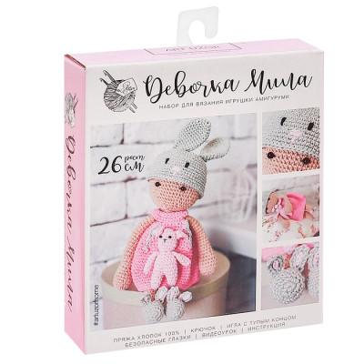 Амигуруми: Мягкая игрушка «Девочка Мила»