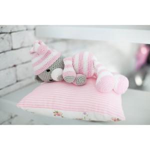 Амигуруми: Мягкая игрушка «Сонный мишка Уолт» #12024