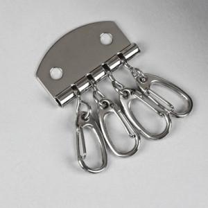 Карабин для ключницы, 3,4 × 5 см, 4 шт #11405