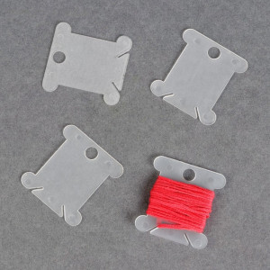 Набор шпулек для ниток мулине, 3,6х4 см, 4 шт МИКС #11736