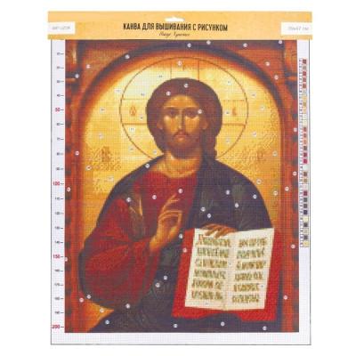 Канва для вышивания с рисунком «Иисус», 47х39