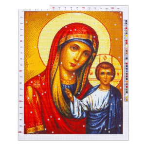 Канва «Казанская Божья Матерь», 47х39 #11912