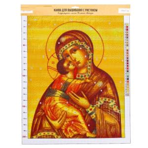 Канва«Владимирская Божья Матерь», 47х39  #11914