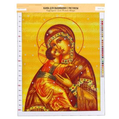 Канва«Владимирская Божья Матерь», 47х39