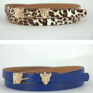 Пояс с леопардом Коричневый #5602