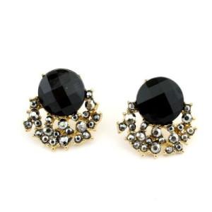 Серьги с черными камнями #5291