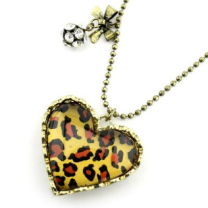 Кулон Леопардовое Сердце #7774