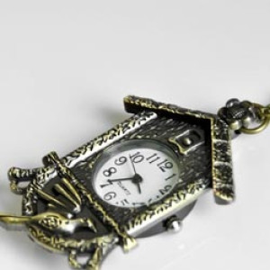 Карманные часы Дом с кукушкой#6890