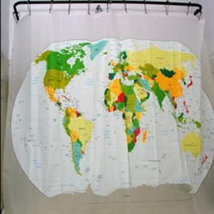 Занавеска для душа Карта мира  #7801